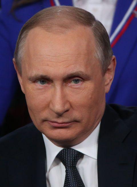 Vladimir Putin in St. Petersburg at a media forum in April 2016 (Getty)