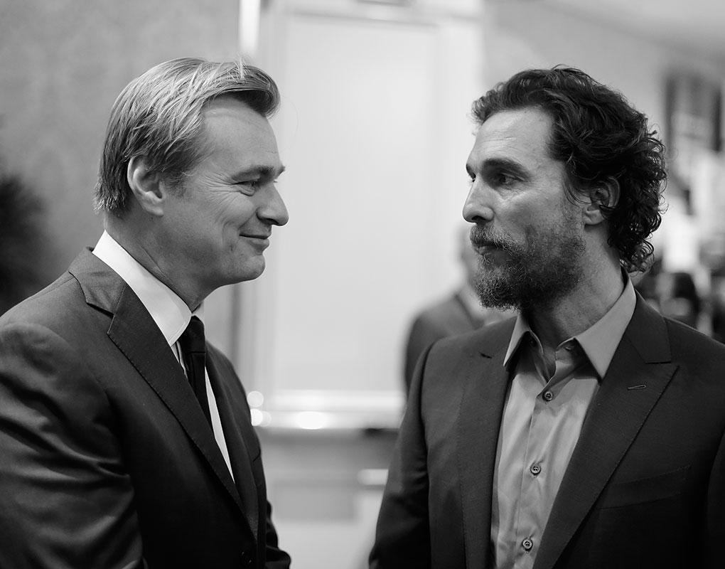 Christopher Nolan and Matthew McHaunaghey