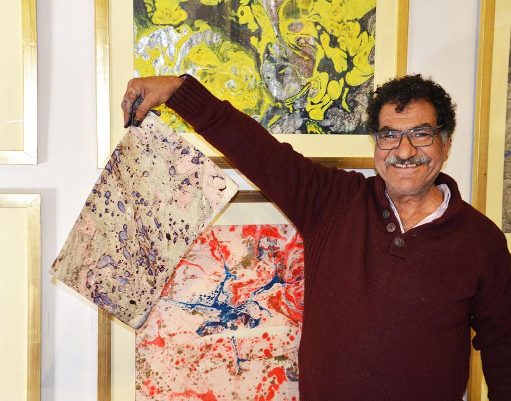 Egyptian-born artist Mohamed Abla