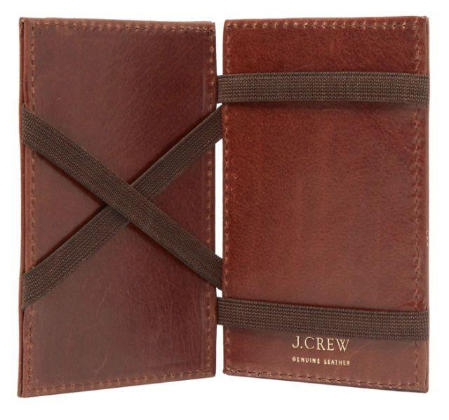 J Crew magic leather wallet