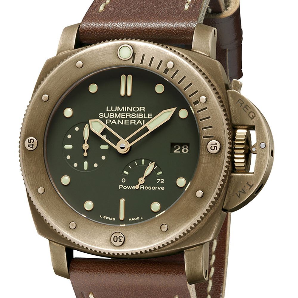 Panerai Luminor Green Face with Bronze Case