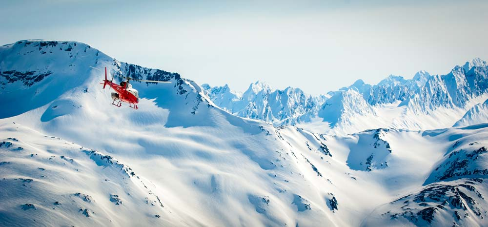 Heli-ski the Alps Switzerland