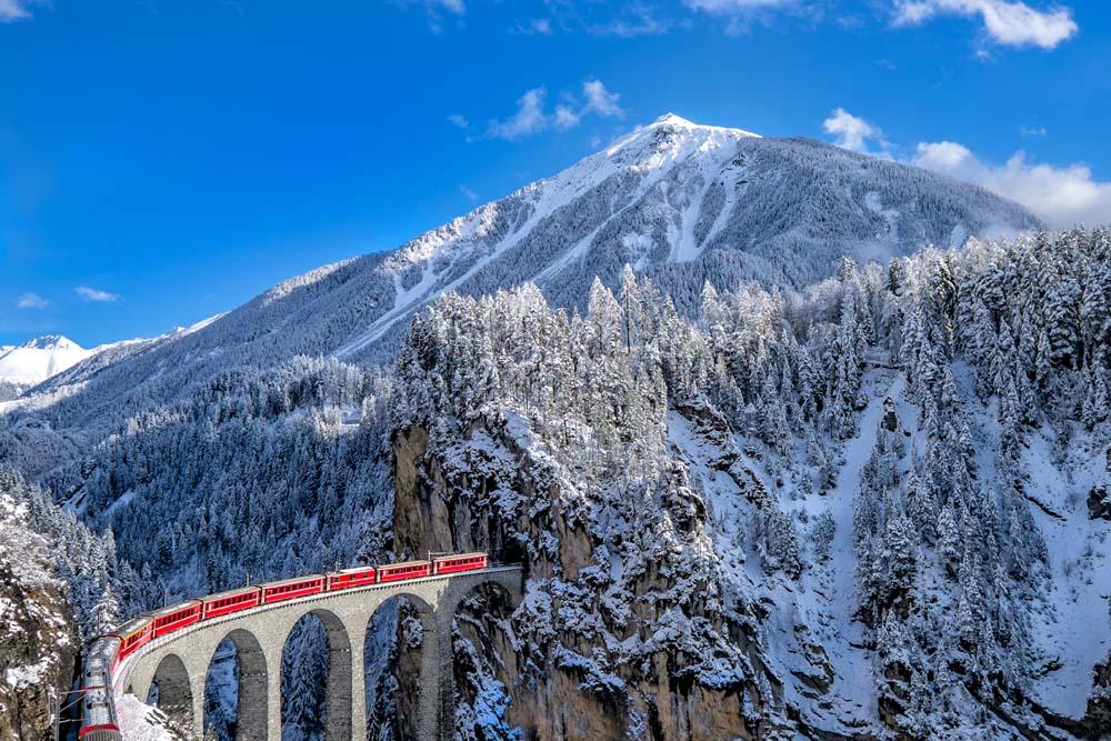 Ride the Glacier Express Switzerland