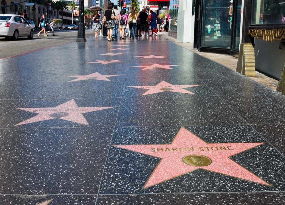 The Hollywood walk of fame United States