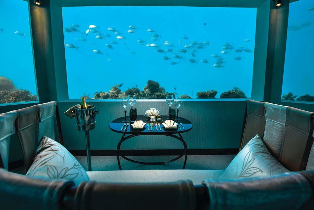 Dine underwater Maldives
