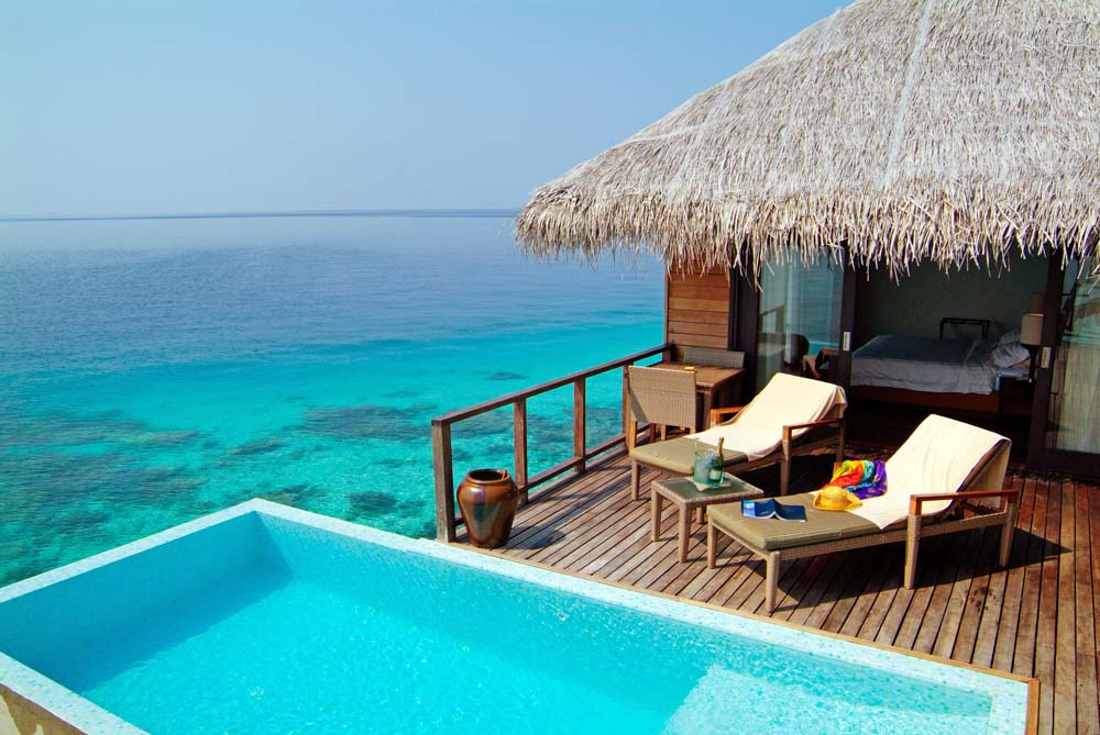 Swim in crystal clear waters Maldives