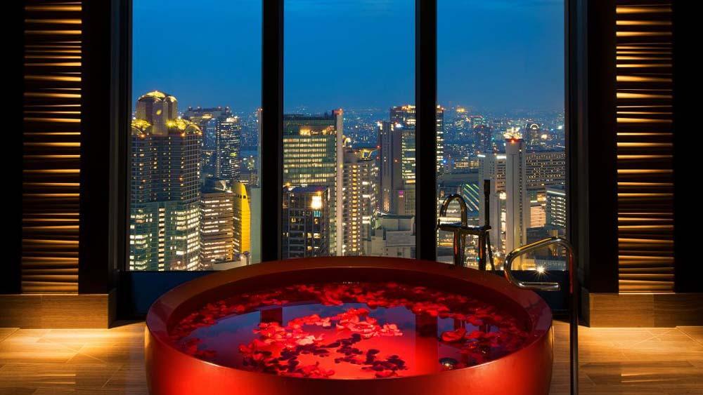 Take a bubble bath with a view Japan