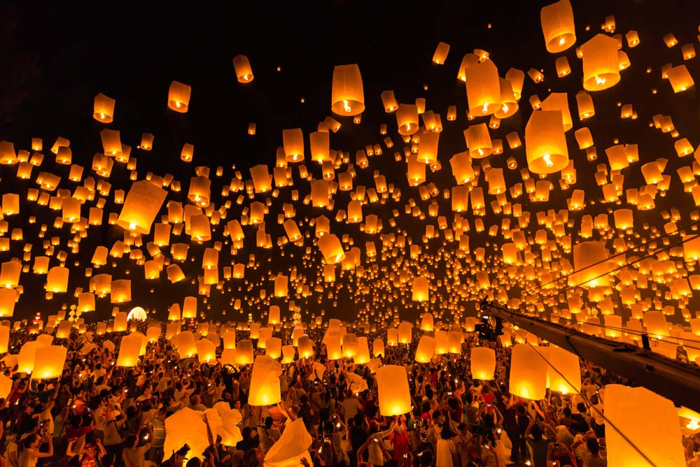 Bask in the festival of lights Thailand