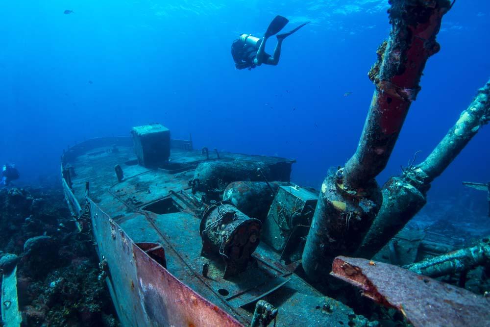 Dive shipwrecks in Sipadan Malaysia