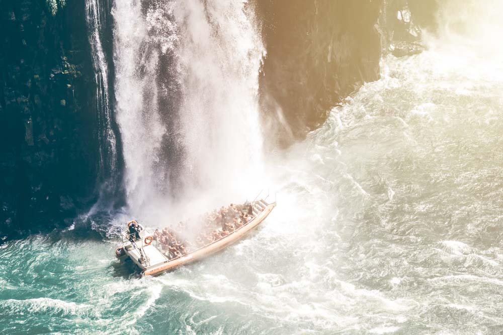 Get drenched at Iguazu Falls Brazil/Argentina