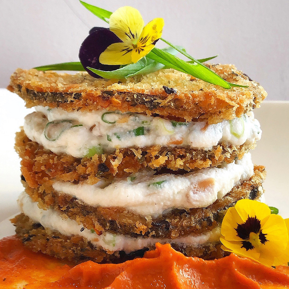 Indian Inspired Eggplant Parmesan
