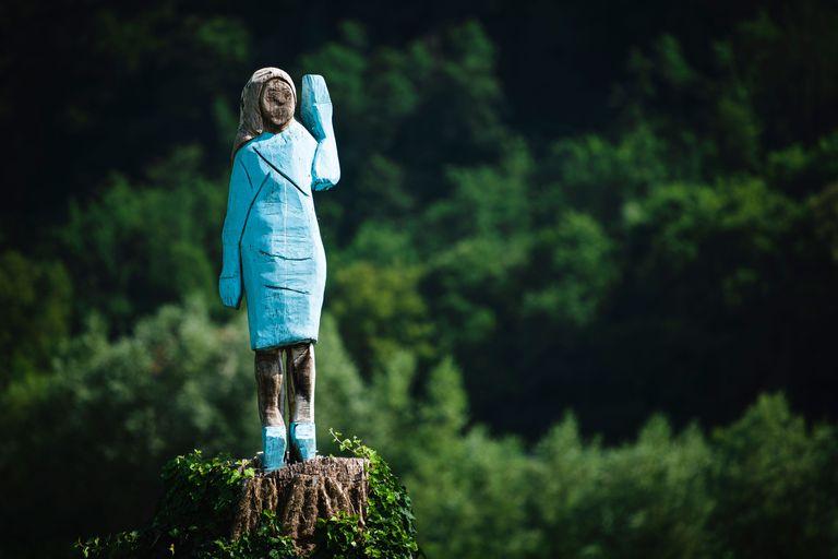 Melania Statue Sevnica, Slovenia