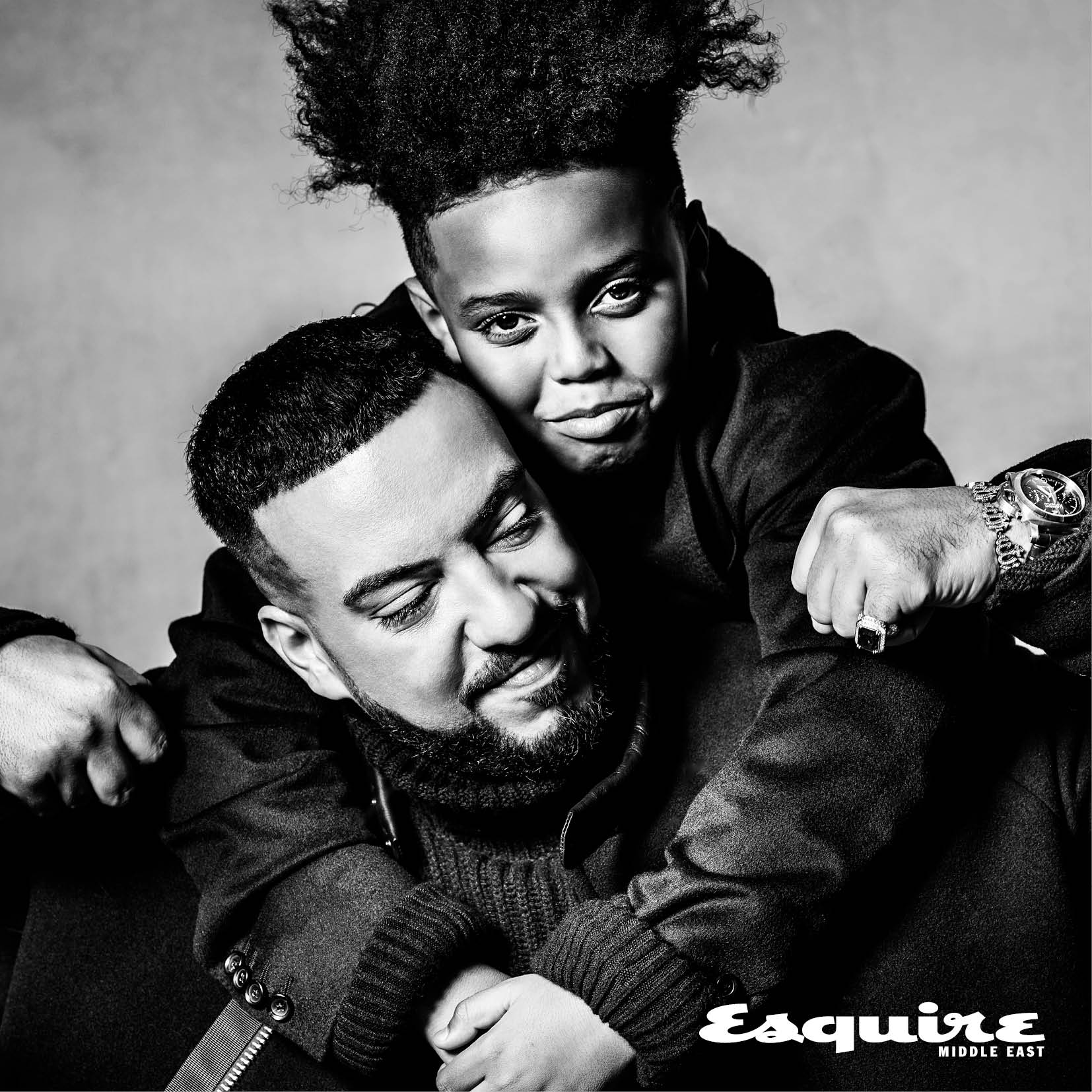 French Montana and son for Esquire Middle East