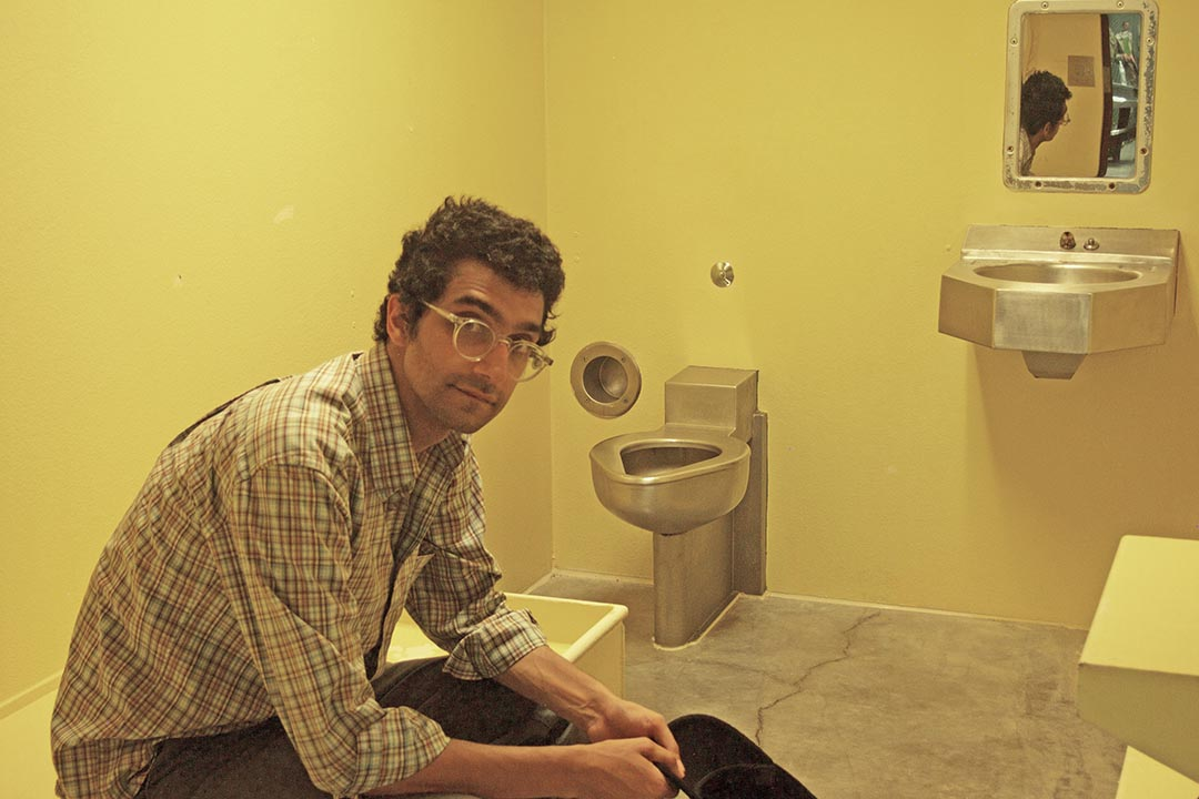 Journalist Latif Nasser in a cell in GITMO