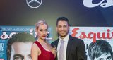 Woman We Love award winner Paige Spiranac and Steven Tinoco
