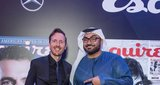 Esquire's Jeremy Lawrence and Comedian of the Year Ali al Sayed