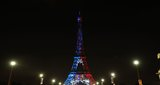 The Eiffel Tower is illuminated Blue White and Red colors of the french flag as a tribute to the french football team who won the world cup for the second time in history on July 15 2018 in Paris We can see 2 stars representing each victory  France won 4-2