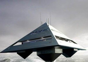 The pyramid yacht