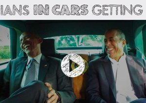President Obama gets coffee with Jerry Seinfeld