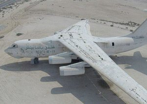 What's that abandoned aircraft in Umm Al Quwain?