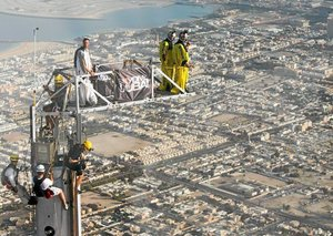 The jump from the top of the Burj Khalifa