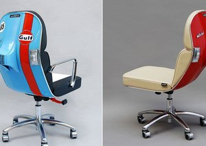 Vintage Vespas turned into modern chairs