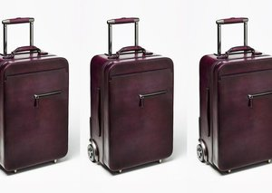 Berluti F500 Venezia leather suitcase