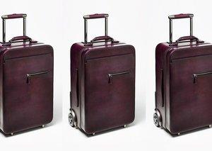 Berluti F500 Venezia leather suitcase