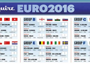 PRINT OUT your own Euro 2016 wallchart!