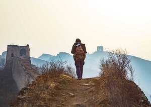 Trekking along the Great Wall of China