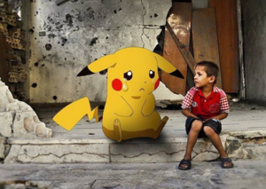 Syrian children make an appeal to Pokemon Go gamers