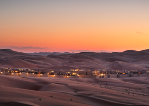 The five-star desert hotel stay