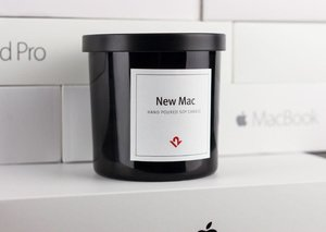 "You can buy a candle that smells of ""New Mac"""