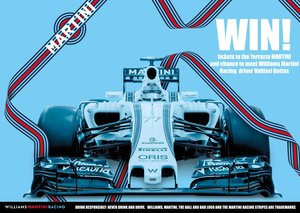 WIN! Tickets to the Terrazza Martini and a chance to meet Williams Martini Racing driver Valtteri Bottas