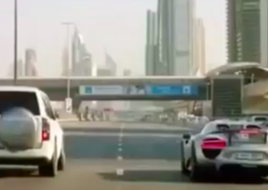 A Nissan Patrol out dragging a Porsche 918 Spyder on Sheikh Zayed Road?
