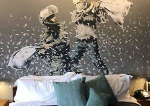 Banksy opens a hotel on the West Bank barrier wall