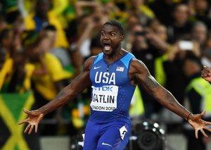 Gatlin spoils Bolt's goodbye