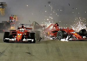 Formula 1 crash from driver's perspective is terrifying