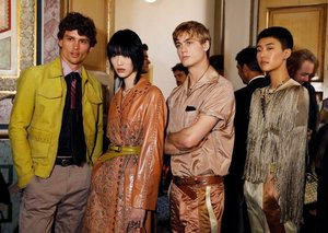 Backstage at Bottega Veneta's Spring/Summer 2018 Show [Gallery]