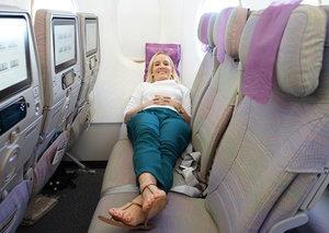 What's the secret to a good flight's sleep?