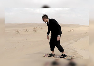 Esquire takes Casey Neistat sandboarding in the Dubai desert