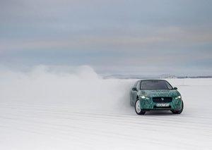 Jaguar races electric cars through frigid Arctic