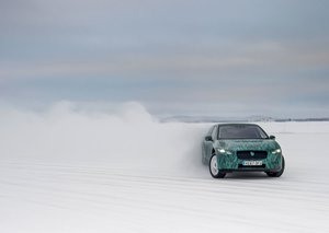 Jaguar races electric cars through frigid Arctic