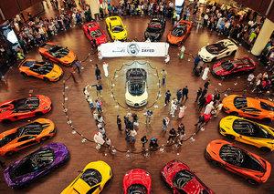 Ever seen supercars drive through a mall?