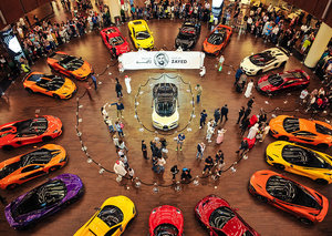 Ever seen supercars drive through a mall?