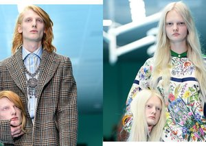 Why did models carry their own severed heads at the Gucci show?