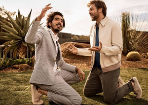 Javier Bardem and Dev Patel are brand buddies now