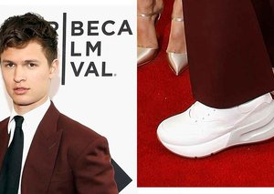 Ansel Elgort is rocking the ugly sneaker trend