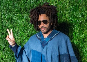 Bask in the glory of Lenny Kravitz and his massive Denim Poncho