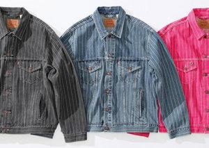 Supreme x Levi release pinstripe denim jacket